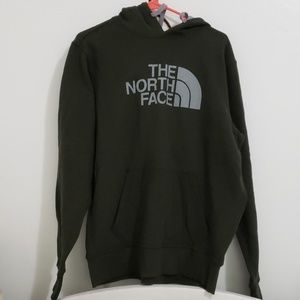 Dark Green North Face Hoodie